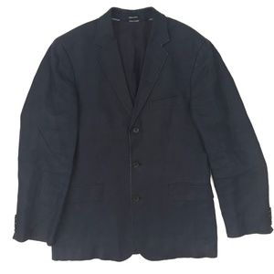 J.Crew linen jacket men SZ 40R navy blue